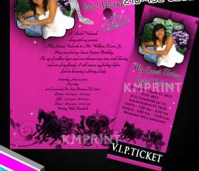 Sweet 15-16 Invitations ,Quinceñera invitations, 15th Birthday